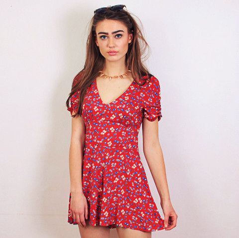 Ditsy 40s Playsuit