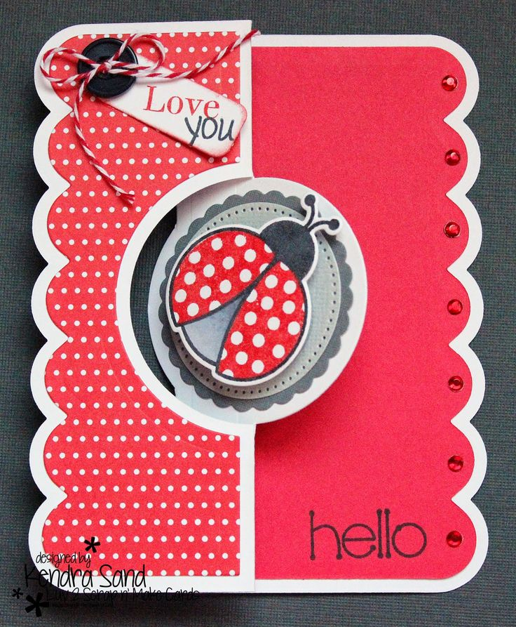 Luv 2 Scrap n' Make Cards: Ladybug Love with The Stamps of Life, Sizzix, Love You Card, Ladybug