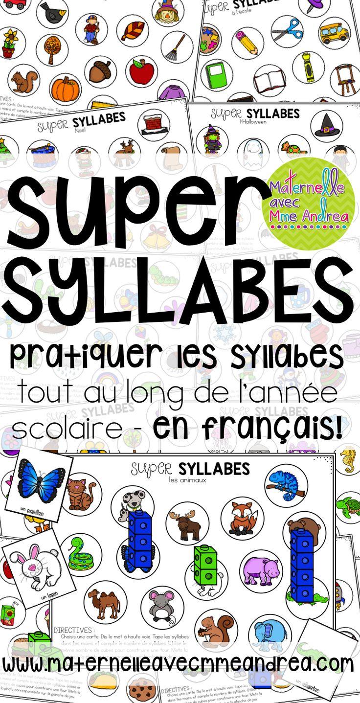 Super syllabes - un jeu pour pratiquer les syllabes |FRENCH syllable practice | maternelle | conscience phonologique