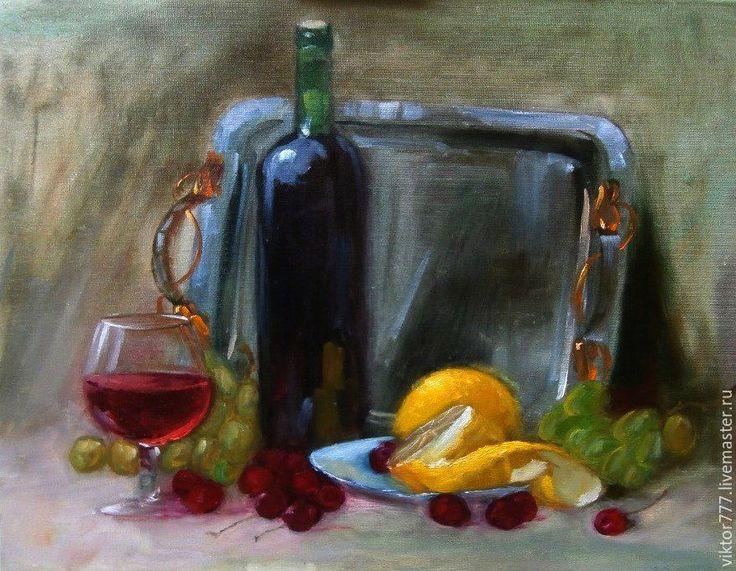 Купить Крымский натюрморт... - оливковый, натюрморт с фруктами, виноградная…