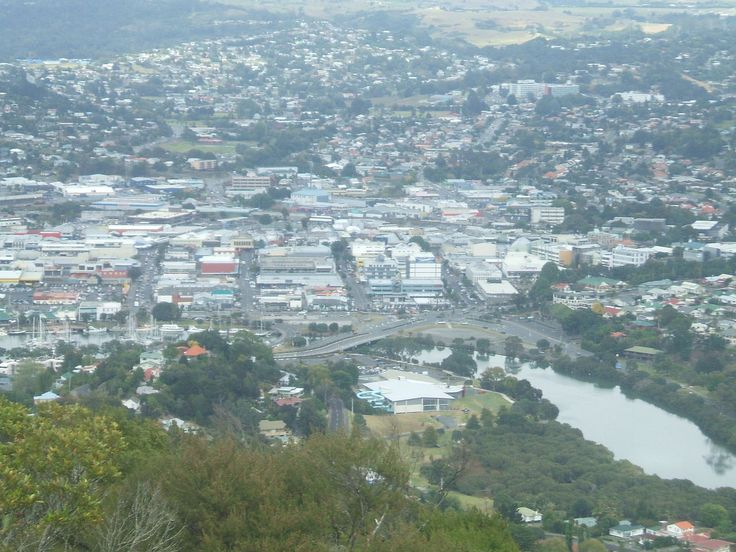 Whangarei town centre taken from Mount Parihaka