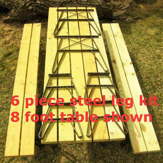 Outdoor Furniture Picnic Table Kit w Benches Made by RusticLiving, $192.00