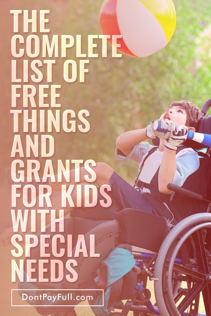 The Complete List of Free Things and Grants for Kids with Special Needs