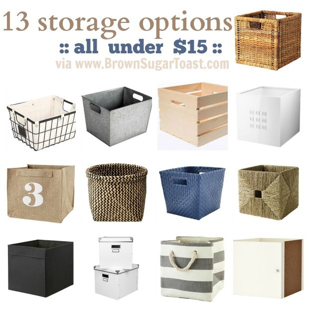 Storage Bin Options {for Kallax/Expedit}