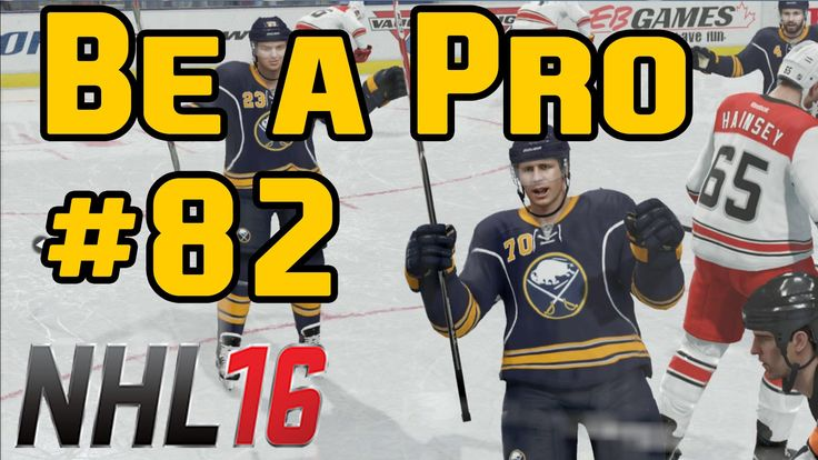 NHL 16 Gameplay Be a Pro Ep. 82  Sabres @ Red Wings