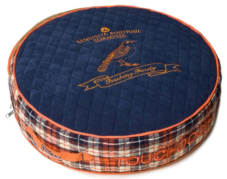 Touchdog Bark Royale Dog Bed Posh Rounded and Raised Fleece Plaid Small Blue New #PetLife