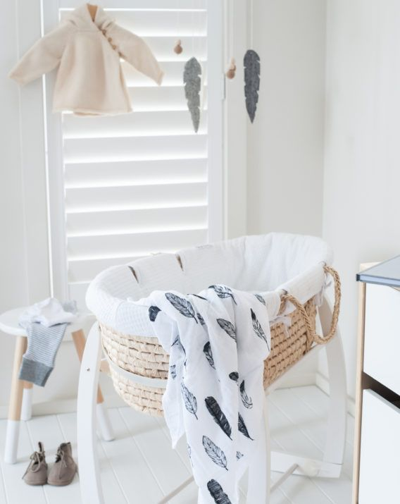 Modern Burlap and Project You + Me Organic Cotton Feather Swaddle - Blossom & Glow
