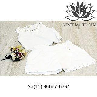 Conjunto de linho com Regata com detalhe na Gola e Saia-Shorts R$ 8500 (somente loja física) #vestemuitobem #moda #modafeminina #modaparameninas #estilo #roupas #lookdodia #roupasfemininas #tendência #beleza #bonita #gata #linda #elegant #elegance #jardimavelino