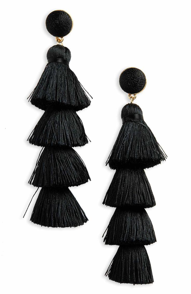 Main Image - BaubleBar Antonella Tassel Fringe Earrings