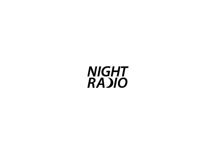 Night Radio logo with crescent instead letter 'D'.