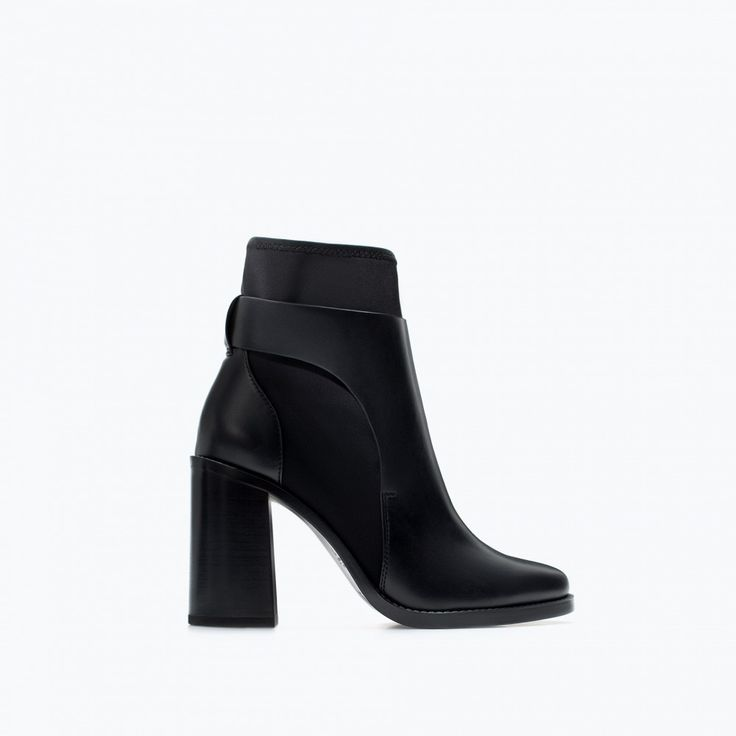 Neoprene High Heel Ankle Boot via @WhoWhatWear I can't believe these are under $100.