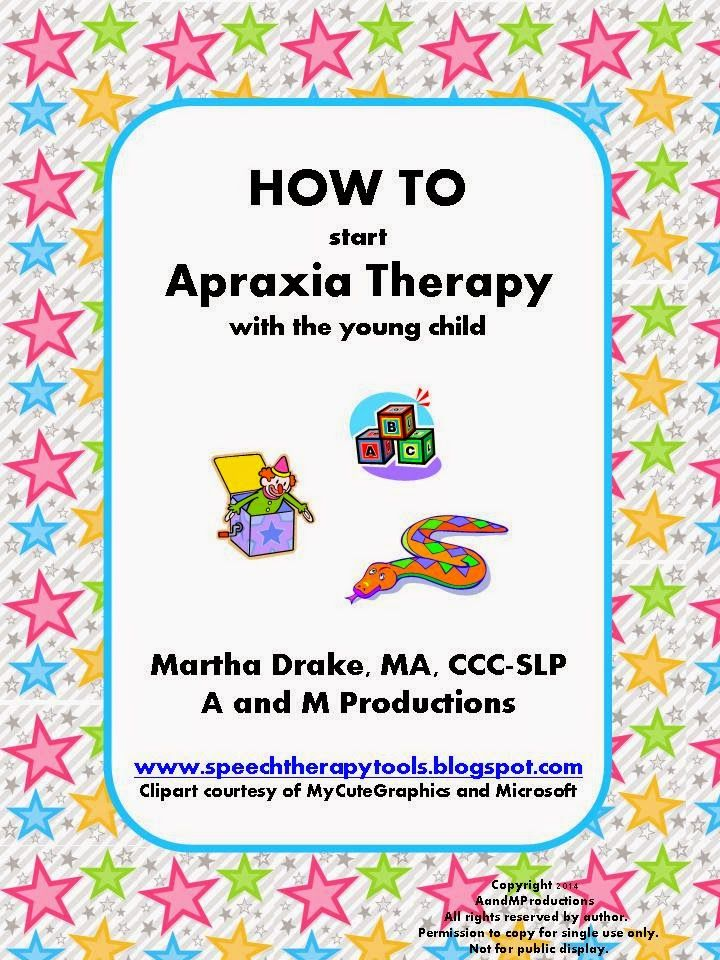 Speech Therapy Tools: HOW TO Start Apraxia Therapy with the Young Child
