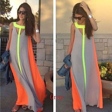 Women's Sexy Beach Casual Party Sleeveless Maxi Dress 2016 - $14.99