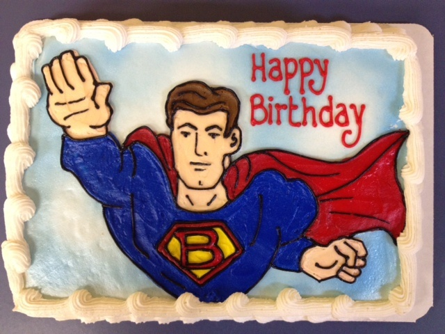 Superman birthday cake by BennysBakeryCakes, via Flickr