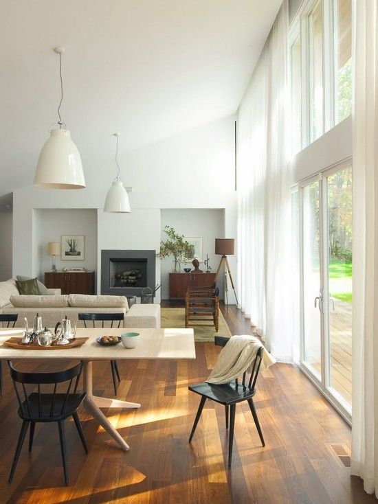 like this open plan dining living. where the pic was taken was the kitchen maybe? or else kitchen to the left at back of room