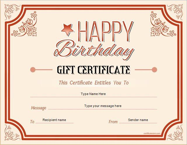 This Entitles The Bearer To Template Certificate Lovely Birthday Gift C Gift Certificate Template Gift Certificate Template Word Free Gift Certificate Template