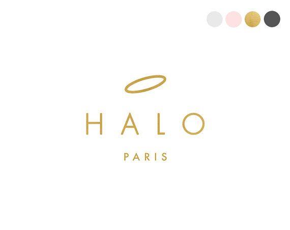 Gold Halo Logo Design. Angel Logo. Sans by CrookedLittlePixel