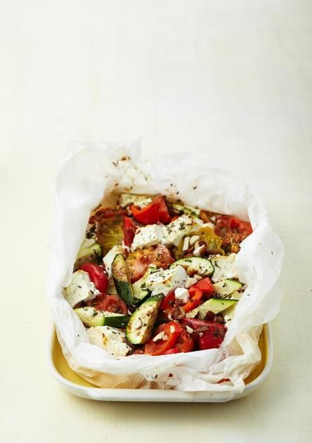 Feta and vegetables from the oven