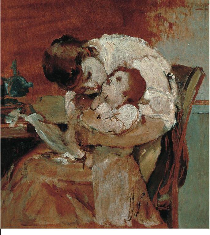 Νικηφόρος Λύτρας (1832-1904), Μητέρα με παιδί λάδι σε ξύλο