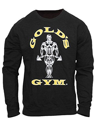 Golds Gym Mens Fitted Black Sweatshirt, Hoodie, Sweater, sweatshirt (S)