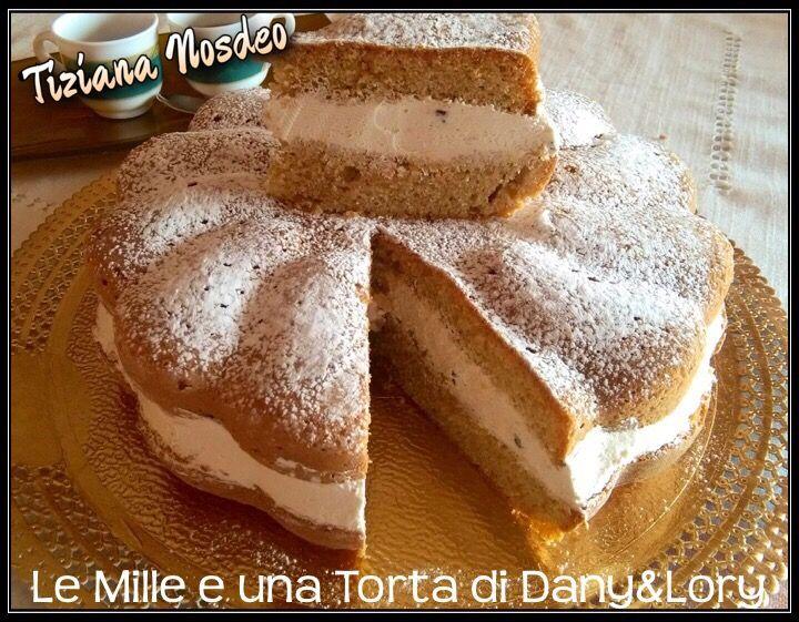 RICETTA DI: Tiziana Nosdeo Torta sofficissima al caffè con crema al latte e gocce di cioccolato (ricetta con e senza Bimby) Ingredienti per una teglia da 24