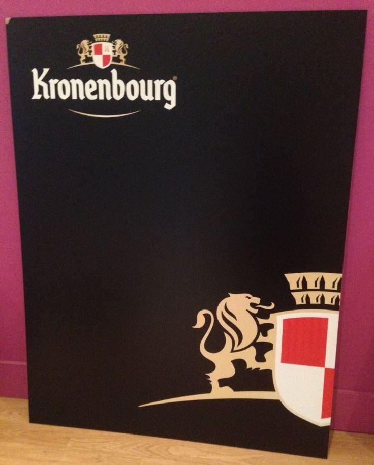 Ardoise publicitaire personnalisée pour Kronembourg