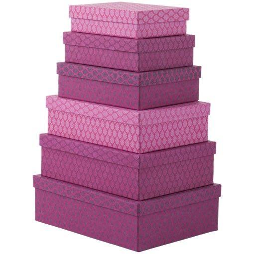 Bungalow - BOXES - rectangular, printed