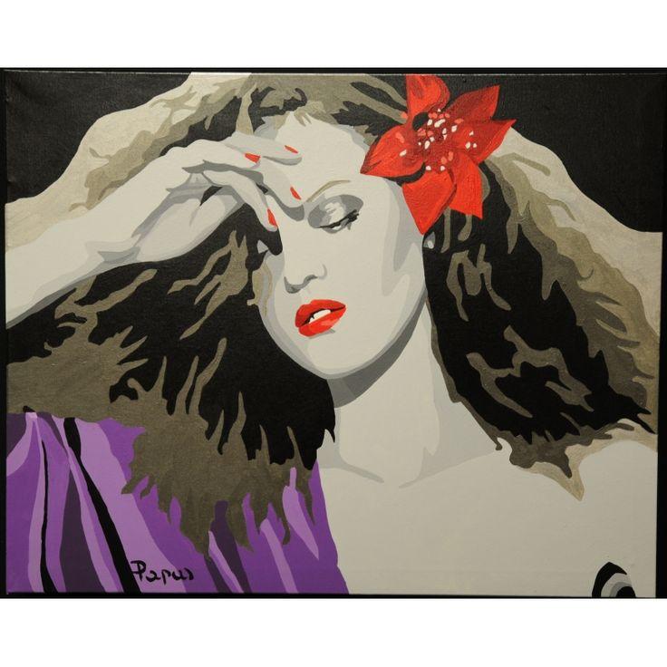 Suggestions - acrylic on canvas; Papa Silvia