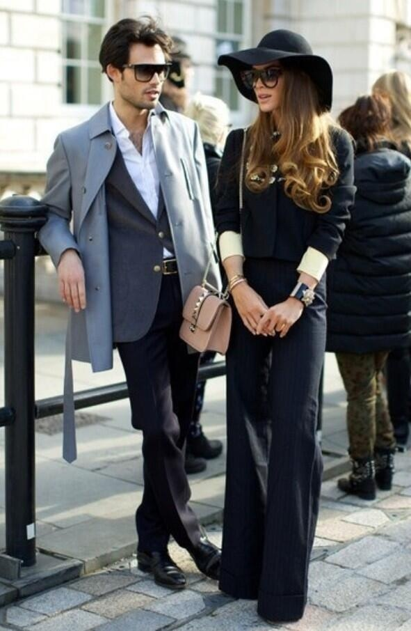 Mark Vandelli and Victoria BakerHarber. So chic