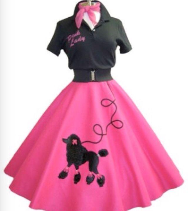 Ballroom Dress For Dance Class Retro Week We Danced On Roller Skates Poodle SkirtsPoodle Skirt Outfit1950s
