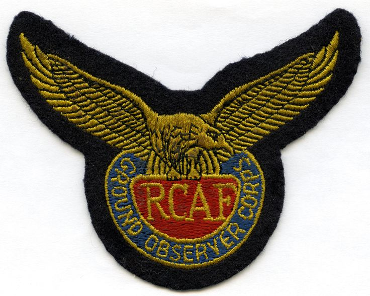 RCAF Ground Observer Corps Badge