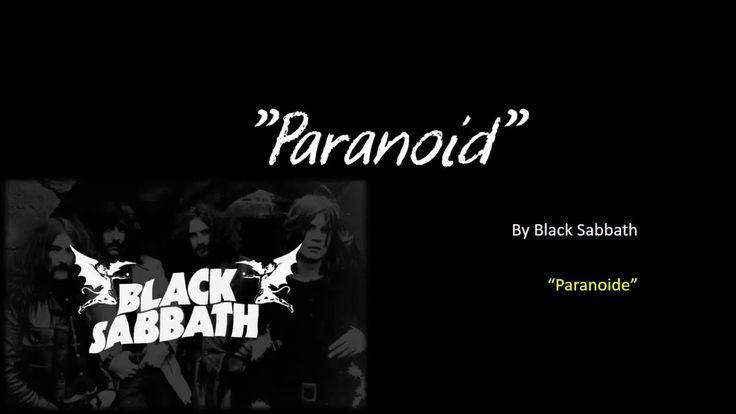 Paranoid -  Black Sabbath (letra y traduccion en español)