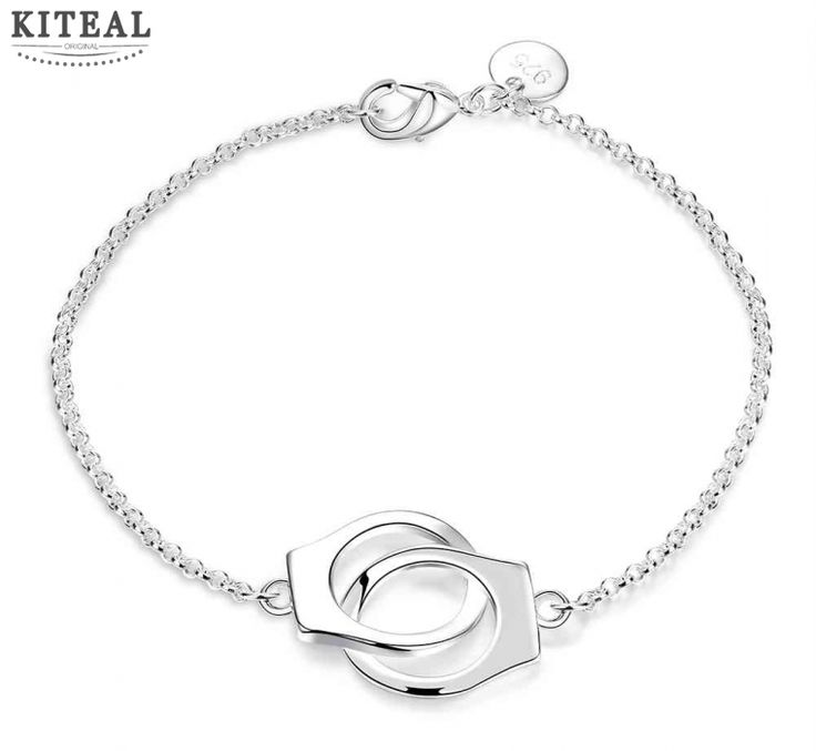 Free Shipping wholesale 2017 New fashion jewelry silver circle bracelets  Handcuffs one direction wedding jewellry KNWH006