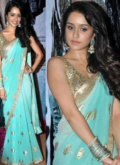 Buy Online bollywood saree Shrada Kapoor Aashiqui 2 Saree