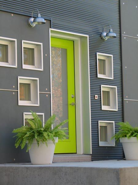 Cool collection of bold front doors