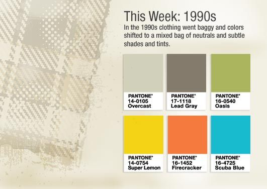 This week we are celebrating the colors of the 1990s!