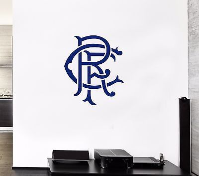 Rangers FC Logo Vinyl Transfer Sticker Decal Laptop Wall