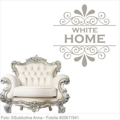 Möbeltattoo - White Home mit Ornament Shabby Chic