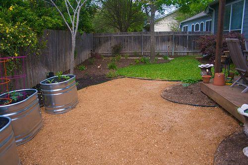 crushed granite garden | Backyard patio view