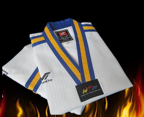 Long-sleeve WTF Autumn and Winter Taekwondo Dobok Clothes Child Adult Training Professional Sport Uniform