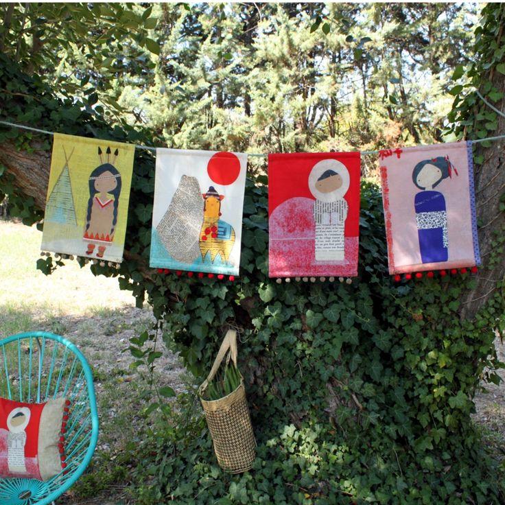Déco murale enfants - Toiles pompons Les Petites Kasko