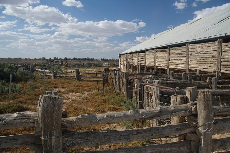 Sheep shearing shed, Mungo National Park, Australia