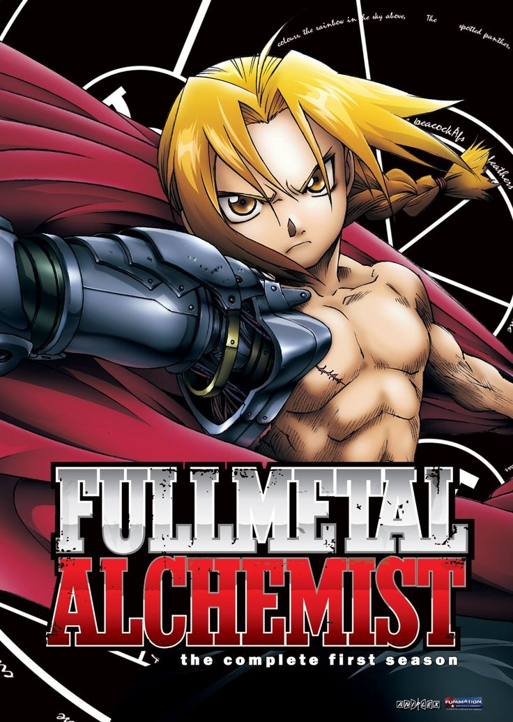 Fullmetal Alchemist [2003-2004] directed by Mizushima Seiji, based on the original work by Arakawa Hiromu. Season 1 contains episode 1-25. Also check out Fullmetal Alchemist Season 2, containing episodes 26-51 right here http://sherloc.indypl.org/?itemid= library/marc/dynix 1399555