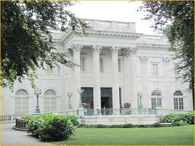 Marble House mansion in Newport, RI.  It is constructed of 500,00 cu ft of marble and was commissioned by William L. Vanderbilt (brother of Cornelius II) as a birthday present for his wife's 39th birthday.
