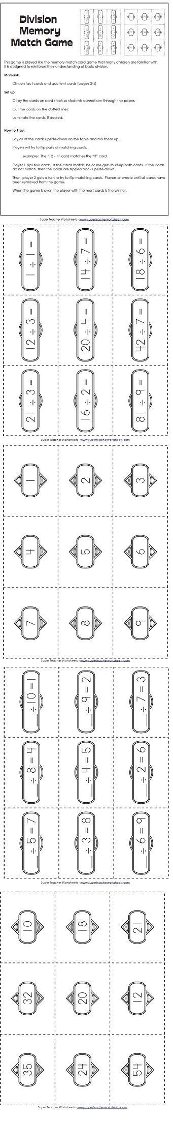 math worksheet : 125 best math  super teacher worksheets images on pinterest  : Super Teacher Worksheets Division