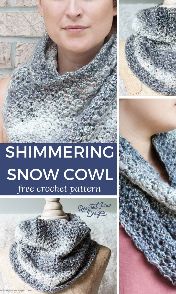 Shimmering Snow Crochet Cowl Pattern Crochet Patterns Free
