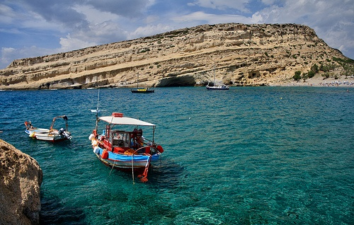 Matala, Crete Greece So beautiful, I really would love to go back one day