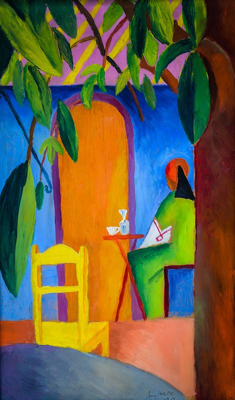 August Macke - Turkish Cafe, 1914 at Lenbachhaus Art Gallery Munich Germany