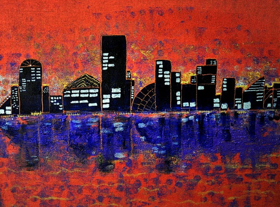 City Lights by TopazeDesigns on Etsy, $495.00