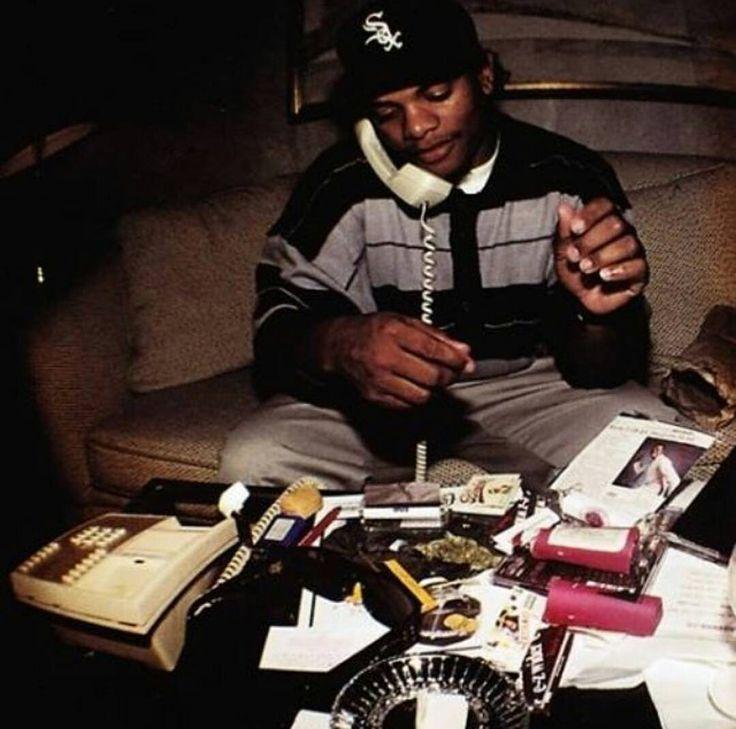 Gotta get high while doing business #eazye #ripeazye #nwa #drdre #djyella #mcren #icecube #arabianprince #thedoc #studio #recordlabel #records #record #recording #album #albums #weed #marijuana #pot #dope #high by eazy__e______